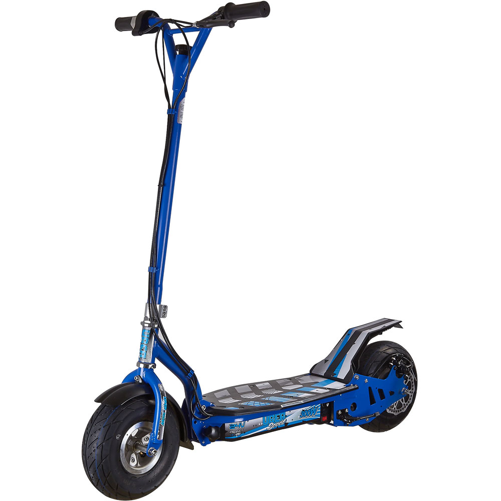 Uberscoot evo 300w electric scooter stand on ride on pink for Stand on scooters with motor
