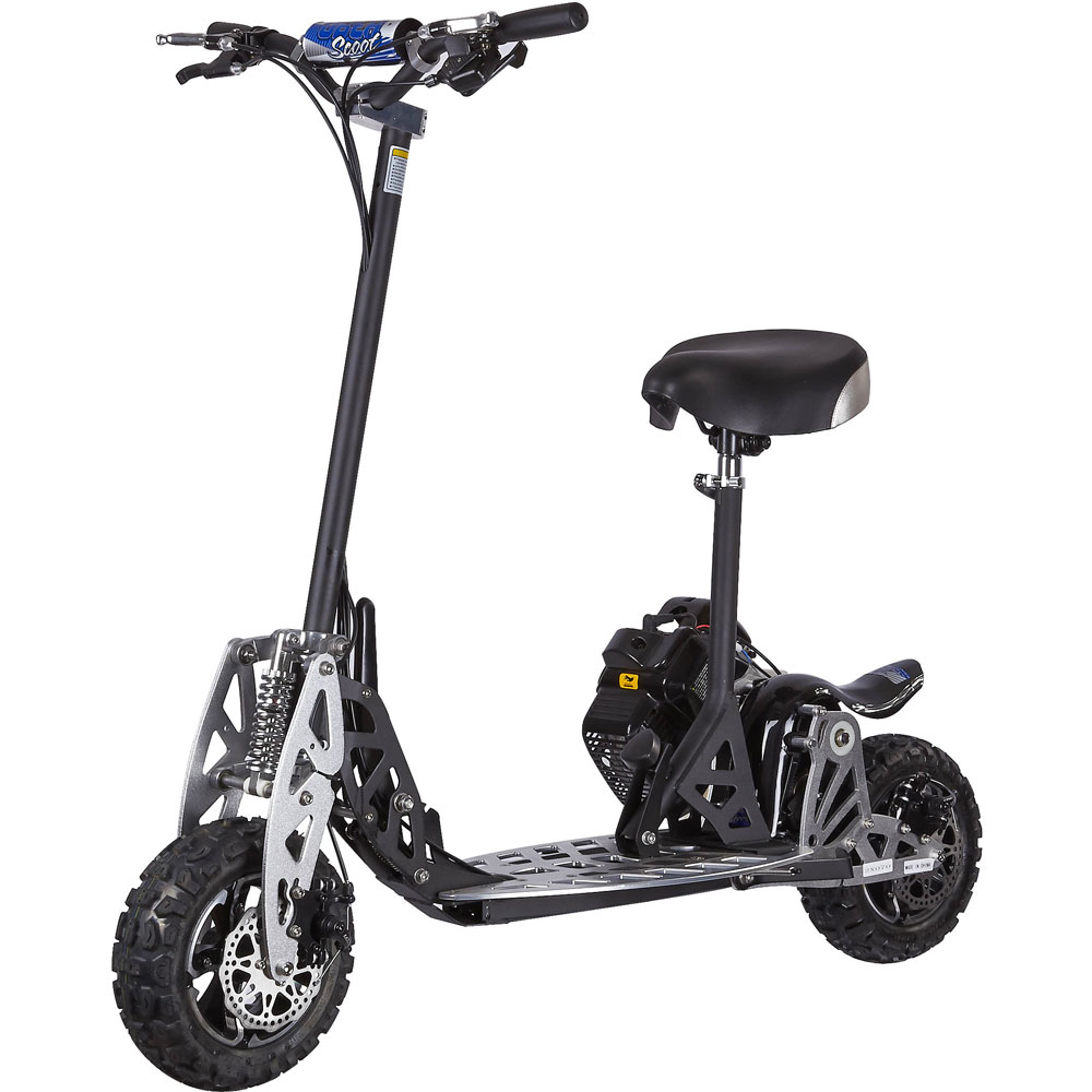 Uberscoot 50cc evo 2x gas powered scooter stand up for Stand on scooters with motor