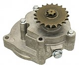 Transmission without sprocket 6-pinion shaft compatible with drive chain