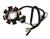 8 Coil DC Stator for 150cc and 125cc GY6 4-stroke QMI152/157 QMJ152/157