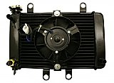 Radiator Assembly and Cooling Fan for 250cc 4-stroke Scooters ATVs Karts