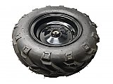 Wheel - Front Tire and Black Wheel Assembly for Mudhead / Mudhead 208R