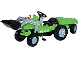 Big Jimmy Loader plus Trailer Tractor Pedal Power Kids Toy