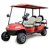 ICON i60L Lifted Electric Street Legal Golf Cart 6 Seat Neighborhood Vehicle
