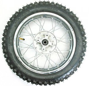 Dirt Bike 12 inch Rear Wheel Assembly Disc Brakes XR CRF