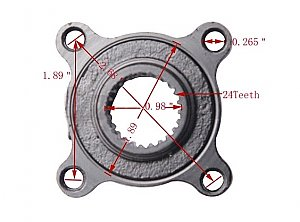 Mini ATV Rear Wheel Hub Chinese Mini Quad 50cc 70cc 90cc 110cc