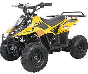 Hawk 110cc Kids ATV Quad 4 Wheeler with Parent Control Remote