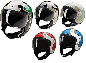 HCI HCI-15 Two Tone Gold Scooter Helmet Street DOT