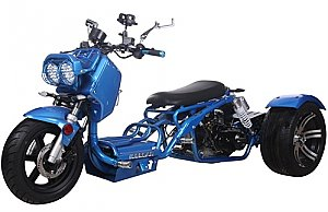Pitbull PST50-19N 50cc Scooter Trike 3 Wheel Ruckus