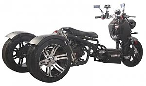 TS50 50cc Trike 3 Wheel Scooter