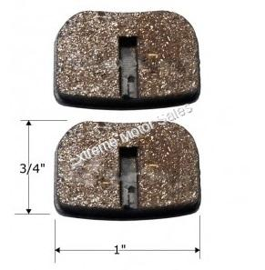 Rear Brake Pads for Torpedo Shark and Trailmaster Mini XRX Karts
