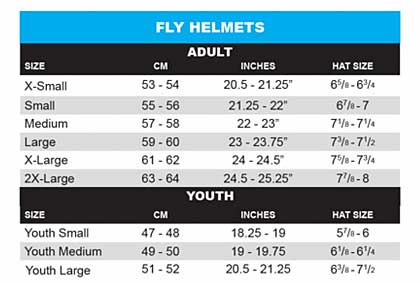 Tms Youth Helmet Size Chart
