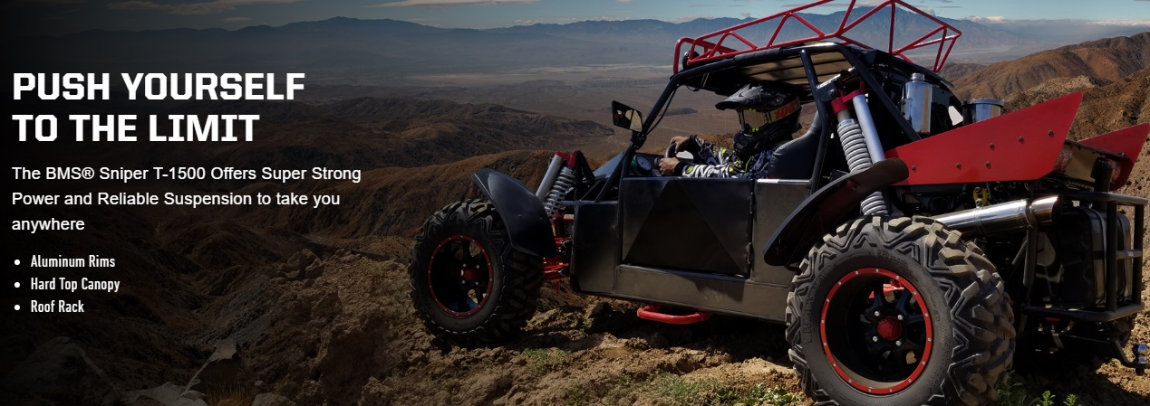 BMS Dune Buggy 1500 2-Seater : Powerbuggy Sand Sniper Go