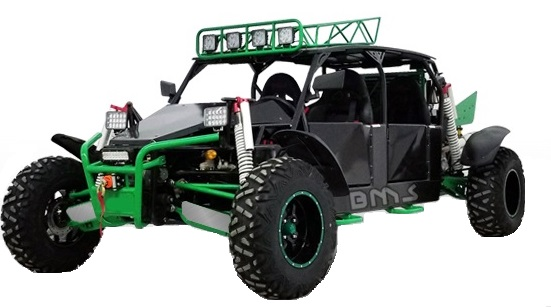 BMS Dune Buggy 1500 4-Seater : Powerbuggy Sand Sniper Go Kart Cart