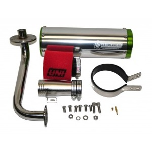 HammerHead Performance Go Kart Cart 150cc Exhaust Kit Kinroad Trailmaster
