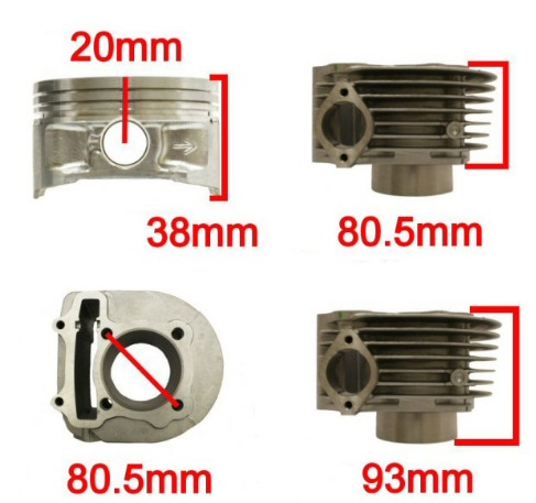 SSP-G 180cc Big Bore Power Kit 150cc 125cc GY6 Engines Oil