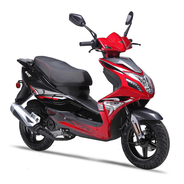 ... Wolf Blaze 150cc Gas Scooter Moped Street Legal 2 Year Warranty ...