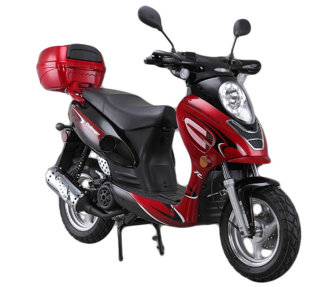 Challenger 50cc Gas Scooter 49cc Moped With 12 Quot Wheel And
