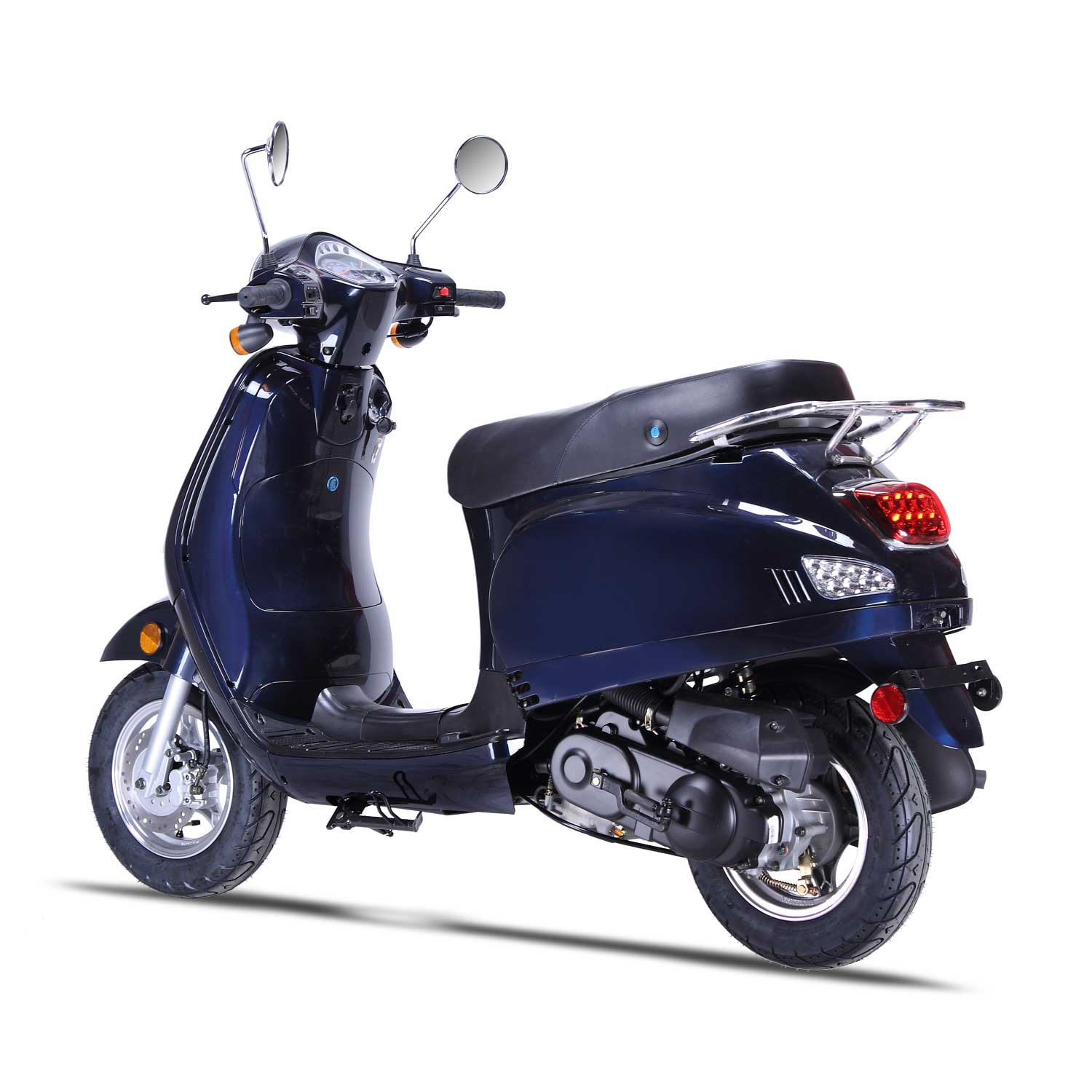 Wolf Lucky Retro 150cc Scooter Extreme Motor Sales Orlando 56 Vespa Wiring Schematic Gas Moped Street Legal 2 Year Warranty