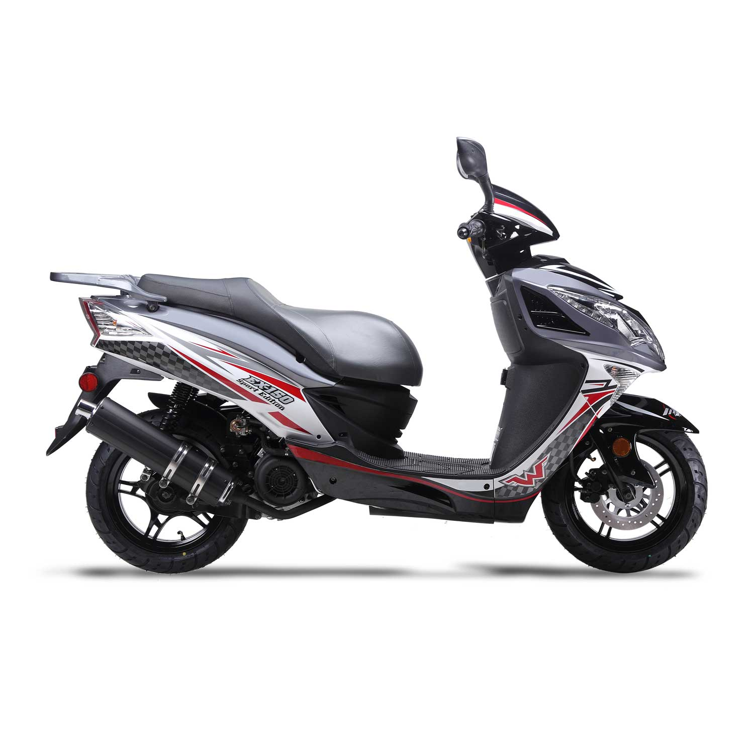 ... Wolf EX-150 150cc Gas Scooter Moped Street Legal 2 Year Warranty ...