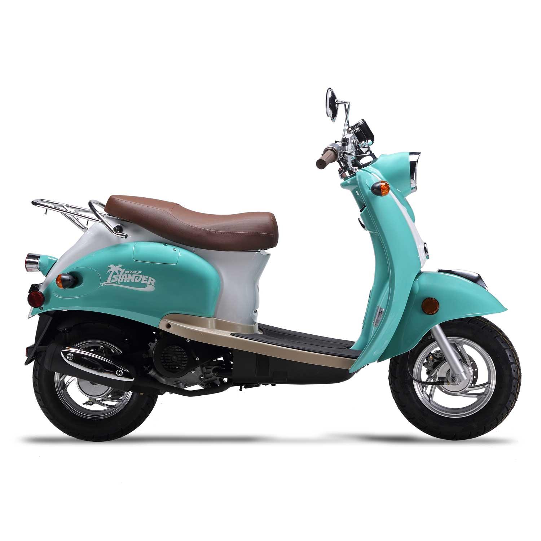 ... Wolf Islander 50cc Gas Scooter Moped 49cc Street Legal 2 Year Warranty  ...