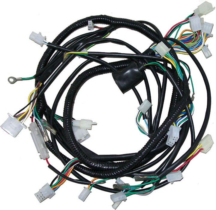Moped_YY250T_Wireharness touring 250cc scooter main wiring harness scooters performance wiring harness at fashall.co