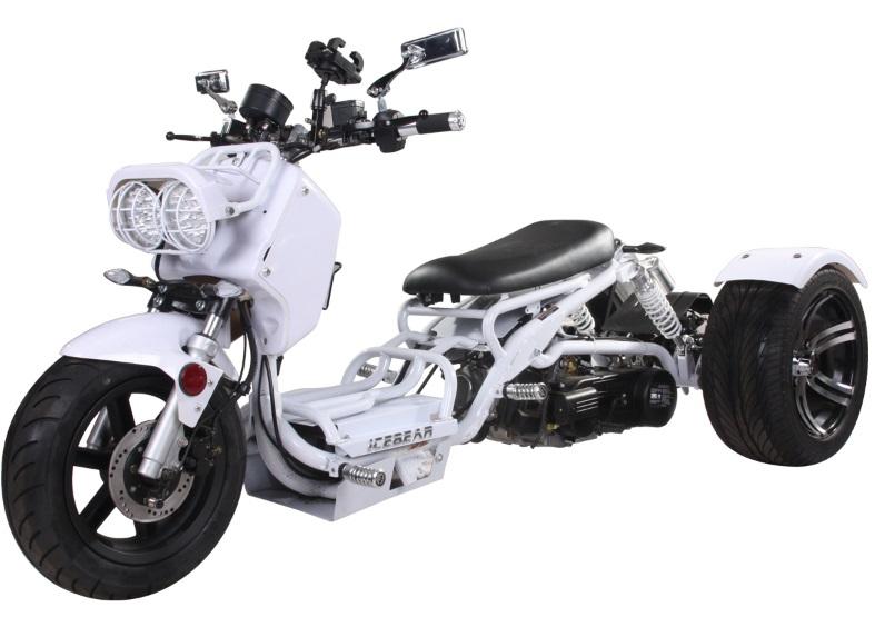 Extreme Motor Sales > Pitbull 150cc Scooter Trike 3 Wheel Street ...
