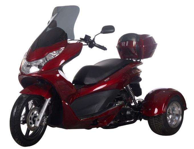 Spirit 50cc Scooter Trike 3 Wheel Street Legal Moped