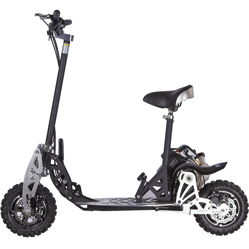 Extreme motor sales uberscoot 2x 50cc evo 2 stroke gas for Gas powered motorized scooter
