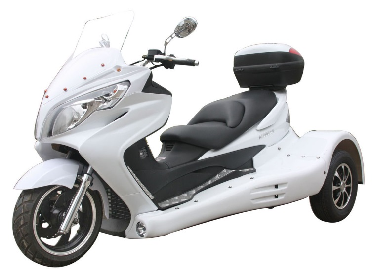 extreme motor sales zodiac 300cc scooter trike 3 wheel scooter pst300 19. Black Bedroom Furniture Sets. Home Design Ideas