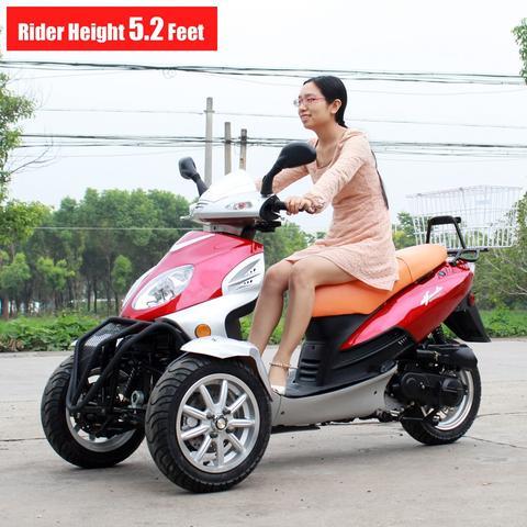 DF50TKA 50cc Reverse Trike Scooter 3 Wheel