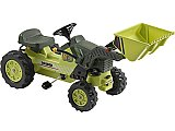 Kalee Pedal Power Tractor with Dump Bucket Kids Toy Yellow or Green