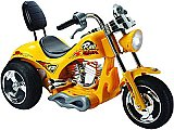 Extreme Mini Motos Yellow Hawk Ride-On 12V Power Wheels Toy Electric Chopper