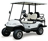 ICON i40 L Lifted Electric Street Legal Golf Cart 4 Seat Neighborhood Vehicle
