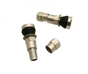 Aluminum Valve Stem and Cap Set of 2 for variety of vehicles