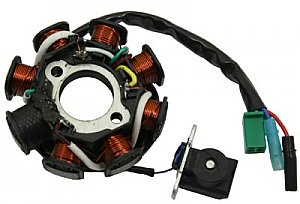 8 Coil Stator for 150cc and 125cc GY6 4-stroke QMI152/157 QMJ152/157