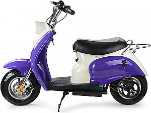 MotoTec 24v Electric Moped Purple Kids Scooter 350W