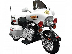 Extreme Police Motorcycle Ride-On 12V Power Wheels Toy Electric