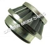 Chrome, UFO style air filter. Fits 22-49cc 2-stroke engines