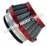 RED, UFO style air filter. Fits 22-49cc 2-stroke Gas engines