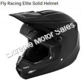 Fly Racing Off Road Helmet Elite Solid Matte Black For Kids