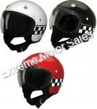 HCI HCI-15 Checkerboard Scooter Helmet Street DOT