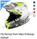 Fly Racing Off Road Helmet Toxin MIPS Embargo For Adults ATV Dirt Bike