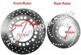 Tank Touring 150cc Scooter Hydraulic Brake Rotor