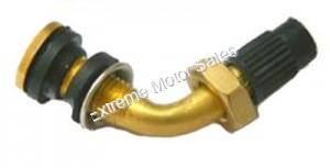 Bent Air Valve Stem with removable locking nut and seals