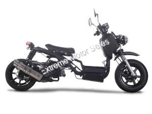 Pitbull 50cc Gas Scooter Honda Ruckus Clone Lowered and Streched FAT REAR TIRE